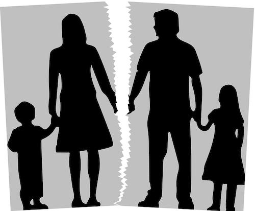 family splitting up