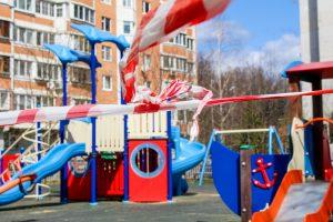 playground closed due to corona virus